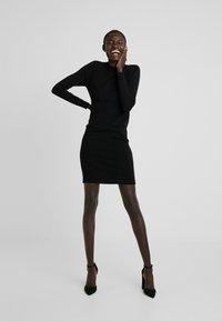 Object - OBJTHESS DRESS - Strikket kjole - black - 2