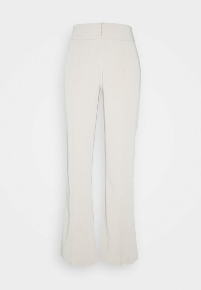 AVA TROUSERS - Tygbyxor - stone