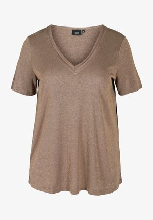 SPARKLY - Basic T-shirt - gold