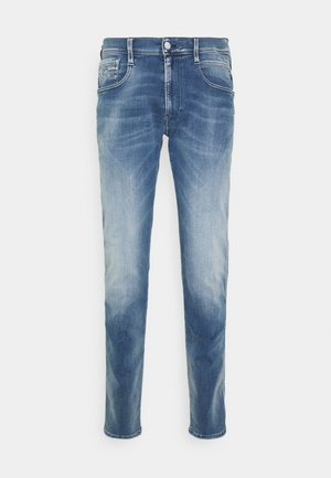 ANBASS WHITE SHADES - Straight leg jeans - indigo
