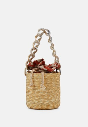 BASKET BROCADE MARBLE CHAIN - Borsa a mano - natural/orange