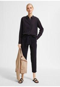 comma - Button-down blouse - dark blue - 1