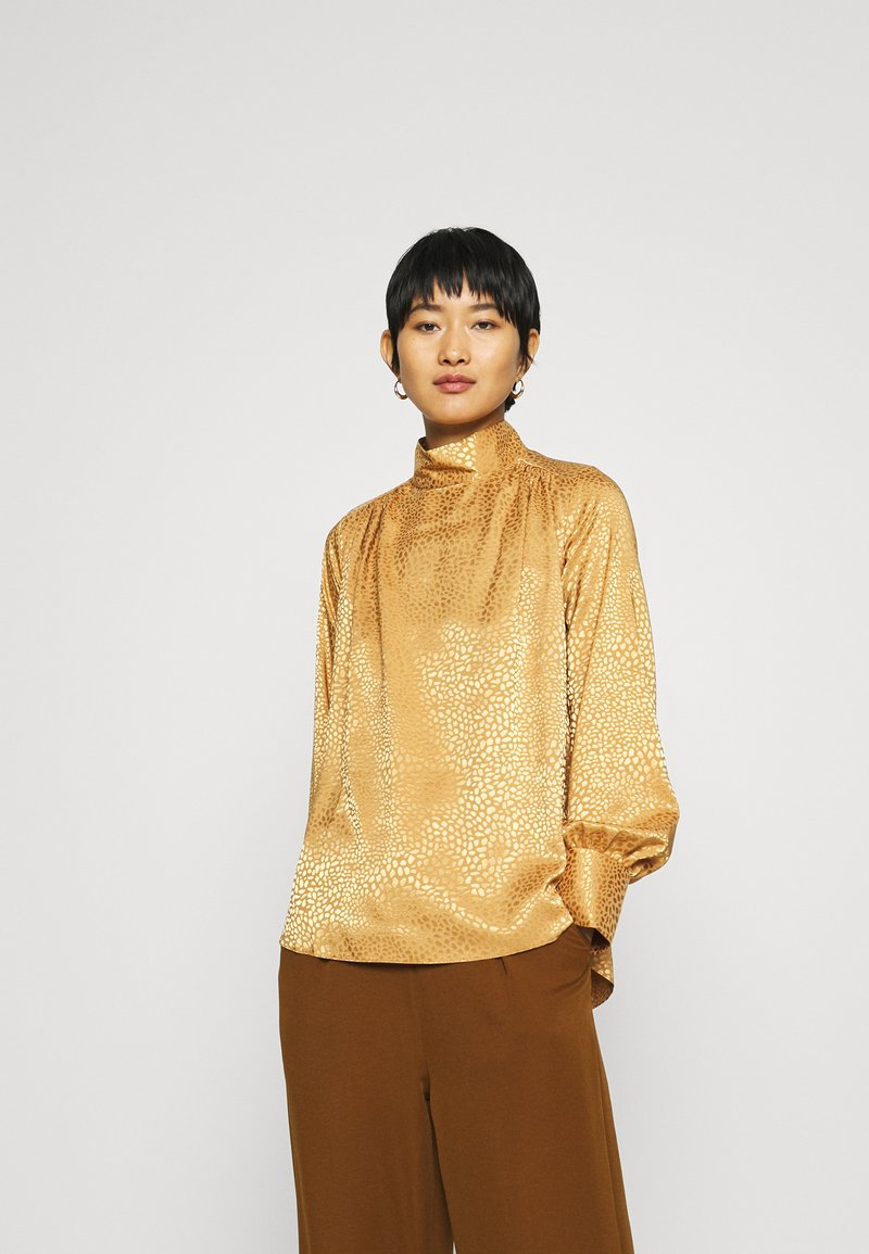 Closet - CLOSET HIGH NECK BLOUSE - Blouse - gold