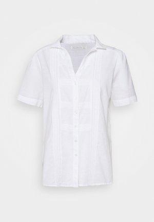 PRETTY TIE FRONT - Camisa - white