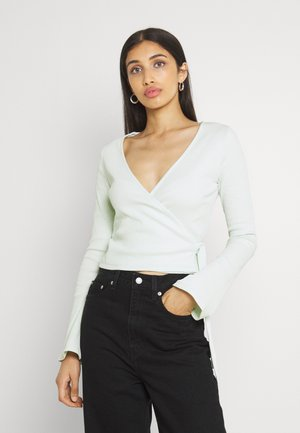 WRAP FRONT LONG SLEEVE - Long sleeved top - green