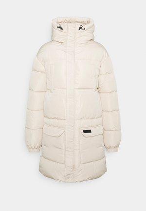 LONG JACKET WITH ZIPPERS - Winter coat - beige