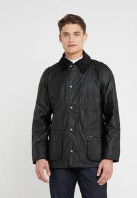Barbour - ASHBY WAX JACKET - Summer jacket - black - 0