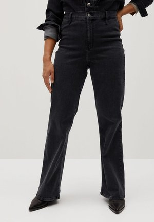 ALBERTA - Flared Jeans - denim grau