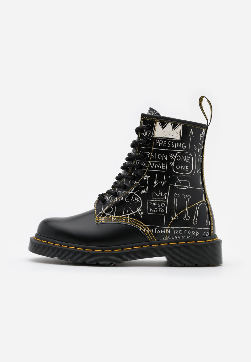 Dr. Martens - 1460 BASQUIAT - Lace-up ankle boots - white/black smooth