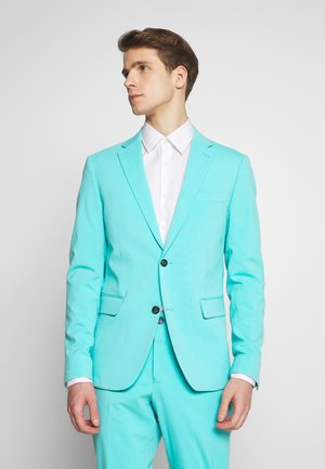PLAIN MENS SUIT - Costume - sea blue