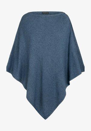 MIT REISSVERSCHLUSS - Poncho - jeans-melange