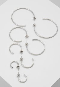 ONLY - ONLPAXA HOOP 4 PACK - Øredobber - silver-coloured - 2