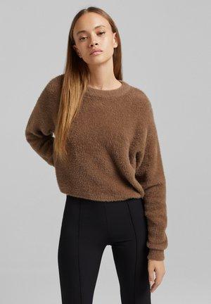 Fleece jumper - brown