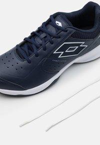 Lotto - SPACE 600 II - Zapatillas de tenis para todas las superficies - navy blue/all white - 5