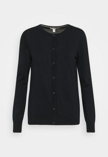 CORE ROUND NECK CARDIGAN - Cardigan - black