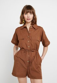 Nly by Nelly - WORKWEAR PLAYSUIT - Combinaison - brown - 0