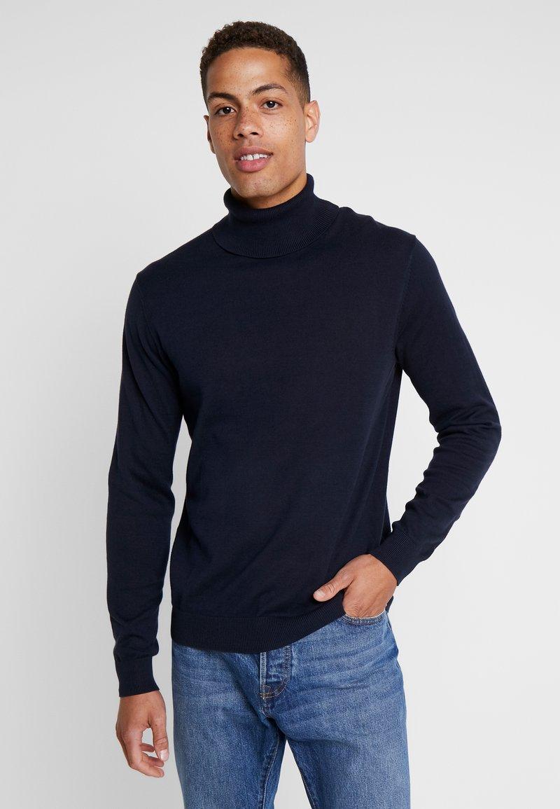 Esprit - ROLLNECK - Stickad tröja - navy