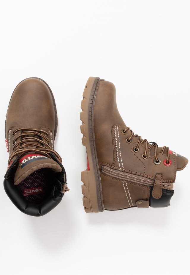 NEW FORREST MID - Bottines à lacets - brown/black