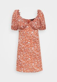 Missguided - MILKMAID SKATER DRESS FLORAL - Kjole - pink - 5