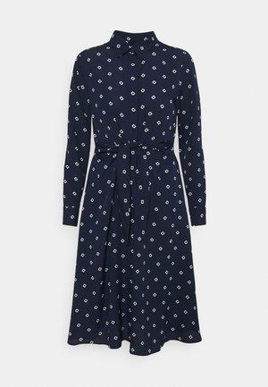 KAHWELL LONG SLEEVE CASUAL DRESS - Košilové šaty - french navy/pale cream