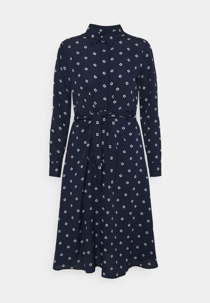 Lauren Ralph Lauren Petite - KAHWELL LONG SLEEVE CASUAL DRESS - Shirt dress - french navy/pale cream