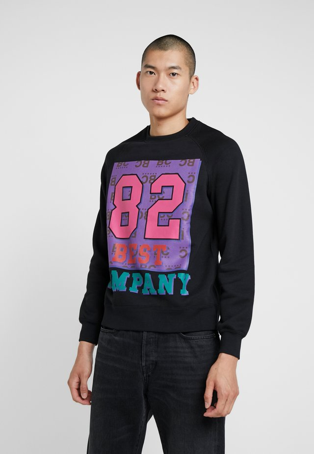 CREW NECK - Collegepaita - nero