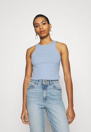 Botanical dyed top - Topper - light blue