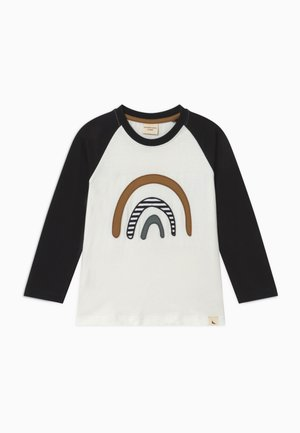 RAGLAN RAINBOW APPLIQUE - Long sleeved top - black