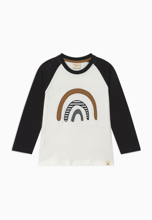 RAGLAN RAINBOW APPLIQUE - Topper langermet - black