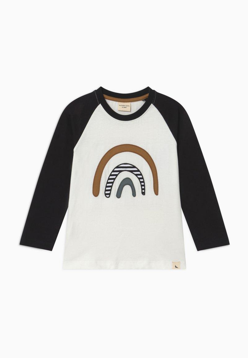 Turtledove - RAGLAN RAINBOW APPLIQUE - T-shirt à manches longues - black