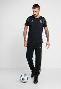 adidas Performance - REAL MADRID TEE - Club wear - black/gold - 1