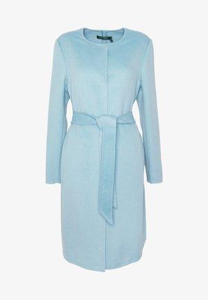 DOUBLE FACE BELTED  - Klasický kabát - light blue