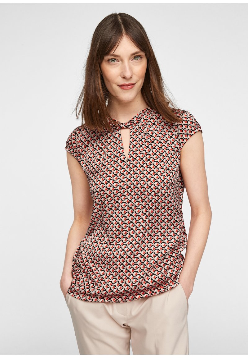 comma - Blouse - red/black