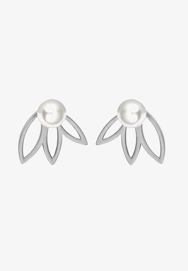 MIT PERLE - Earrings - silver-coloured