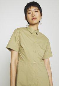 Samsøe Samsøe - BARBARA SHORT DRESS - Shirt dress - olive grey - 3