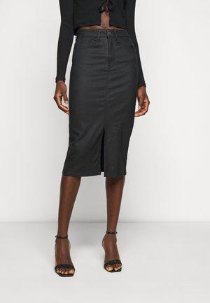 OBJCARLA SKIRT - A-line skirt - black