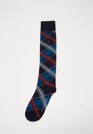 KNEEHIGH TARTAN - Knee high socks - navy/red
