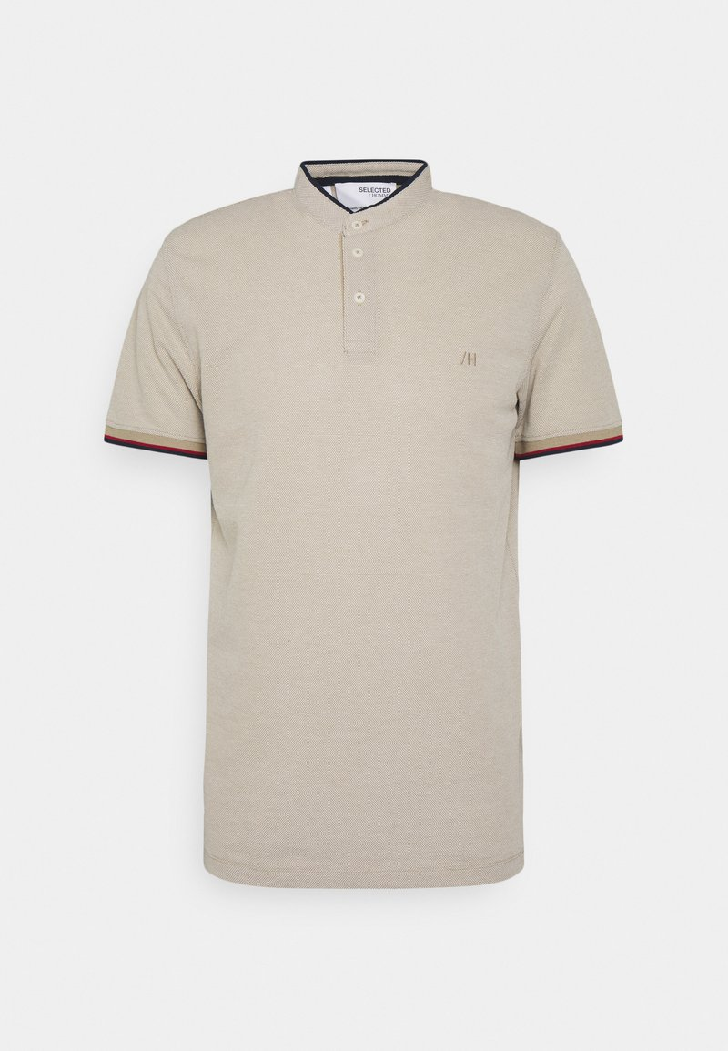 Selected Homme - SLHFINLAY - Polo shirt - crockery/twisted with egret