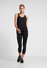 Under Armour - WHISPERLIGHT TIE BACK TANK - Top - black/metallic silver - 1