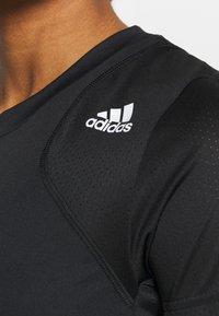adidas Performance - CLUB TEE - Print T-shirt - black/white - 5
