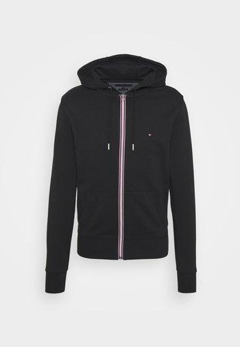 CORE C ZIP HOODIE - Sweat à capuche zippé - black