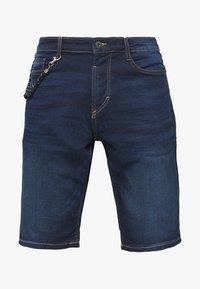 TOM TAILOR - Denim shorts - dark stone wash denim - 3
