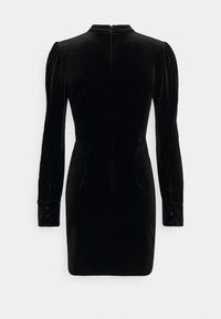 Glamorous - MINI DRESS WITH BALLOON LONG SLEEVES HIGH-NECK AND KEYHOLE - Cocktail dress / Party dress - black - 1