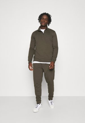 REGULAR FIT ZIP AND JOGGER SET - Sweatshirt - khaki