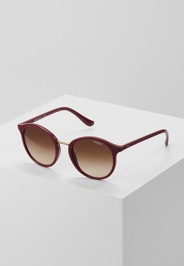 Sunglasses - red brown