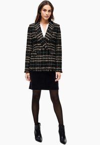 s.Oliver BLACK LABEL - MET FRANJES - Blazer - black check