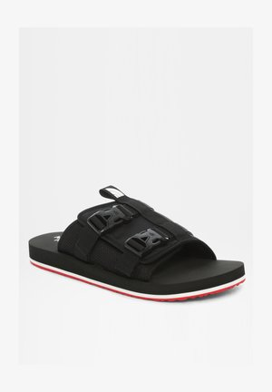 M EQBC SLIDE - Walking sandals - tnf black/fiery red