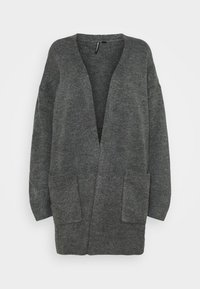 CAPSULE by Simply Be - COSY EDGE TO EDGE - Cardigan - charcoal - 0
