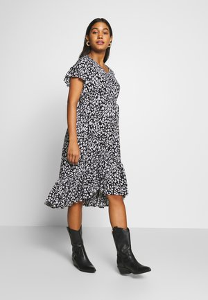 DRESS LEOPARD - Korte jurk - black