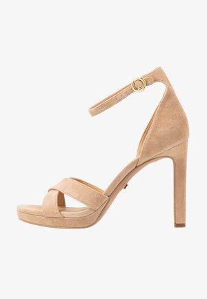 ALEXIA - High heeled sandals - sahara